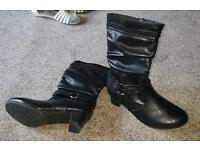 Size 3 black boots