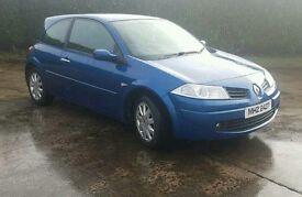 2008 Blue 3dr Renault Megane Dynamite 1.5 Diesel CAR FOR SALE not golf, leon, astra, audi, cilo ...