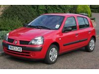 Renault Clio Expression 1.2, petrol. Owned from New, 57K, A/C - Ideal first car