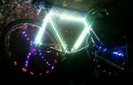 Fixie light up bike hyper bright 56cm frame