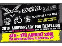Rebellion Festival 2 x Weekend tickets for sale £249 ono THE PAIR* Punk music / Blackpool