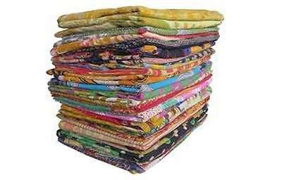 100 Pieces Whole Sale Lot of Indian Tribal Kantha Quilt Vintage Cotton Bed Cover