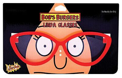 Bob's Burgers Halloween Costume (Bob's Burgers Linda Belcher Novelty Glasses 5.5