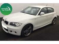 £159.26 PER MONTH WHITE 2011 BMW 116i 2.0 PERFORMANCE EDITION 5 DR PETROL MANUAL