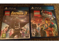 Ps4 batman 3 and Lego movie games