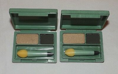 2 x Clinique EYE Defining Duo SHADOW / Liner COMPACT ~ GILDED ~ Lot of 2 (Eye Defining Duo Shadow Liner)