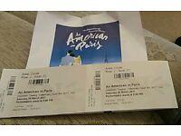 An American in Paris x 2 tickets