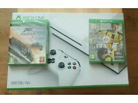 Xbox one 500g slim white with 2 games