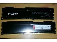 Hyperx fury 16gb (8gb x 2) ddr3