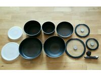 Tefal frying pan and saucepan set
