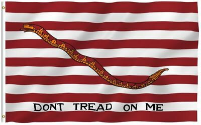 3x5 Dont Tread on Me Gadsden Flag First Navy Jack Tea Party