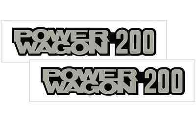 1978-85 DODGE POWER WAGON 200 VINYL DECAL STICKER VEHICLE TRUCK  2- SET