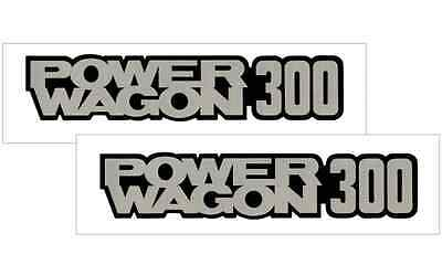 1978-85 DODGE POWER WAGON 300 VINYL DECAL STICKER VEHICLE TRUCK  2- SET