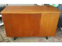 Wooden Vintage Retro Office Workstation Desk Unit Bureau