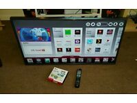 Lg 42 inch super slim led smart 3D cinema new condition fully working with remote control