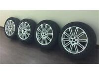 "GENUINE LAND ROVER DISCOVERY 4 20"" 10 SPLIT SPOKE ALLOY WHEELS- Good Tyres X4"