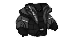 New Powertek Goal chest and arm protector size sz Sr XL senior goalie ice hockey