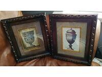 Pair of Classic Greek urn framed prints