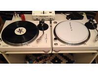 Pioneer PLX-500 White Pair Brand New Direct Drive Turntables