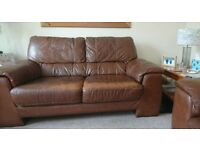3 Seater and 2 Seater Leather Sofas