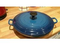 Cast Iron casserole pan with lid.