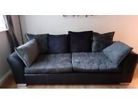 DFS Elvia 4 seater sofa, armchair & footstool