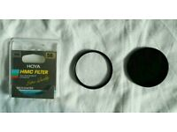 Hoya HMC ND 8 filter and Lens Protect filter (both 58mm)