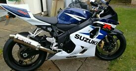 Suzuki gsxr 750 only 3000 miles quick sale