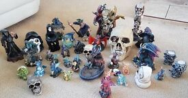 Ornamental dragons skulls & wizard