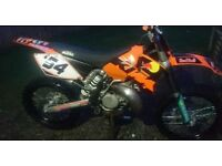Motocross bike, ktm sx 250 2 stroke off road, not crf yzf kxf rmz kx cr rm yz