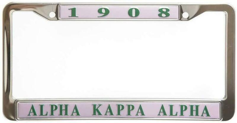 Alpha Kappa Alpha Sorority New Pink Metal License Plate Frame