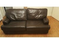 Brown leatherette Relyon sofa bed