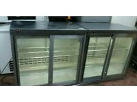 Osbone double door bar fridge, drinks cooker, cans chiller