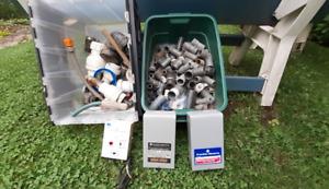connecteurs carlon,valve,controle de pompe submersible.