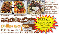 Free ICE CREAM at Rachels Chip Truck in Oshawa