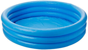 "almost new, Intex Crystal Blue Inflatable Pool, 45 x 10"" w balls"
