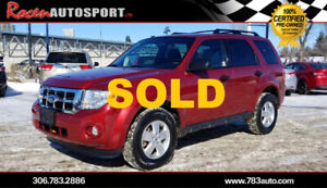 SOLD!!! CERTIFIED 2012 FORD ESCAPE XLT - YORKTON