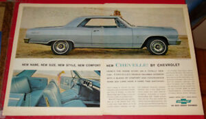 BEAUTIFUL 1964 CHEVELLE SS VINTAGE LARGE AD - ANONCE CHEVROLET