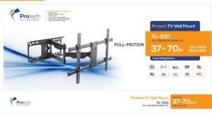 FULL MOTION TV WALL MOUNT 37-70 INCH TV HOLD 60 KG (132 LB) FOR FLAT, LED OR  CURVED TV MOUNT