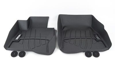 BMW Black All Weather Floor Liners 2014 2019 428Xi 435Xi FRONT ONLY 82112286108