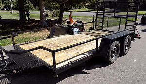 Trailer with power winch for rear door