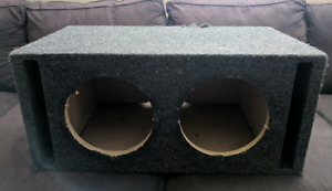 """Dual 10"""" subwoofer box ported"""