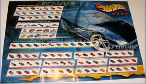 2001 HOT WHEELS POSTER 39X26