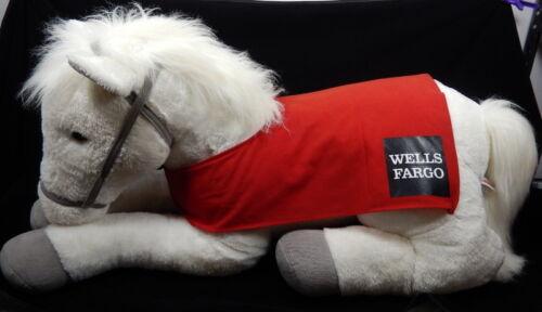 "Jumbo White Wells Fargo Plush Horse Snowflake 40"""