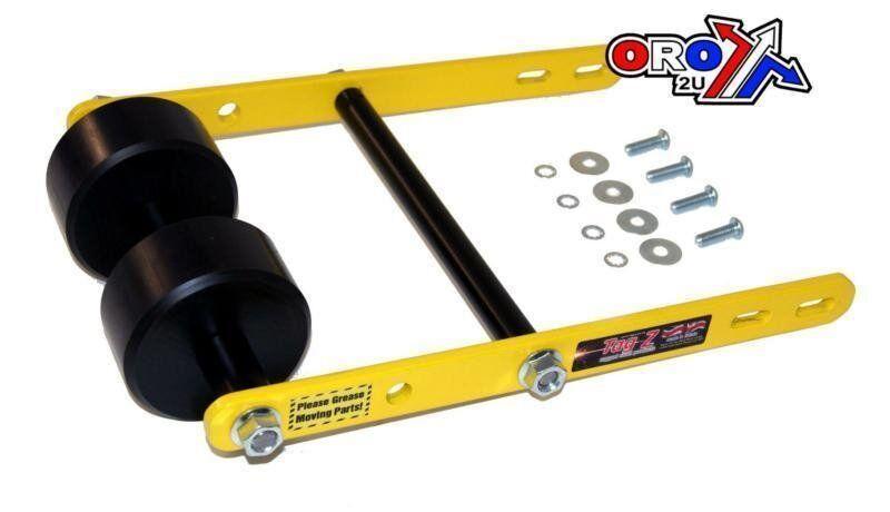 New Tag Z Twin Roller Wheelie Bar Raptor 660 KFX/LTZ 400 LTR 450 Yellow Quad