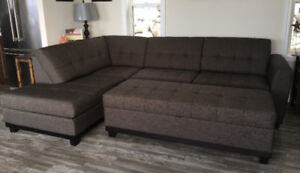 Sectional  sofa with large ottoman