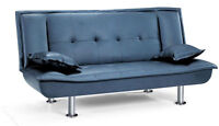 COMFORTABLE CLICK CLACK SOFA BED ON SALE (2 PILLOWS FOR FREE)