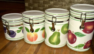Fruit Canister Set with locking lids