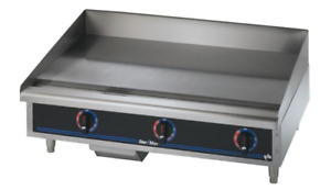 "Starmax 3 burner 36"" counter gas Flat grill / griddle with stand"