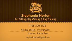 In/Out Home Pet Sitter/Dog Walker